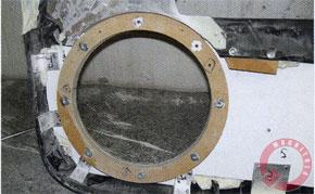 Вид на обивку изнутри: крепление алюминиевой основы и закладные гайки динамика