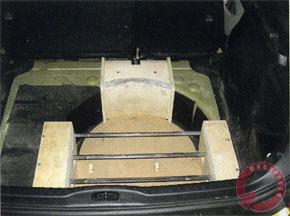 Основа усилительного блока: фанера и металлические профили