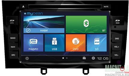 Мультимедийная система для штатной установки, с навигацией для Peugeot 308 (2008-2014), 408 (2012-) MyDean 2083-1