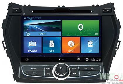 Мультимедийная система для штатной установки для Hyundai Santa Fe (2013-) MyDean 2209