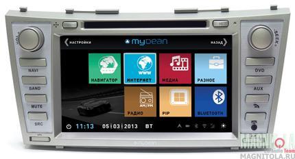 Мультимедийная система для штатной установки, с навигацией для Toyota Camry (2006-2011) MyDean 3064