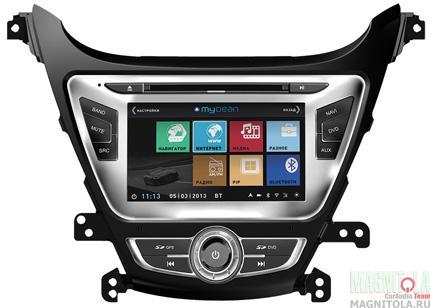 Мультимедийная система для штатной установки, с навигацией для Hyundai Elantra (2014-) MyDean 3092-3