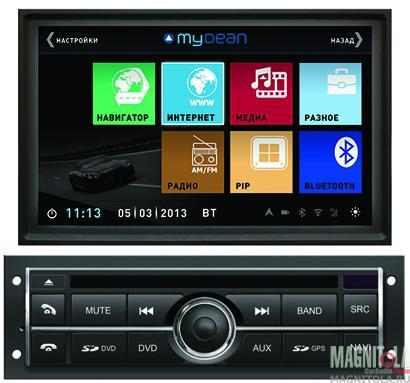 Мультимедийная система для штатной установки, с навигацией для Mitsubishi L200, Pajero Sport без штатного монитора MyDean 3094