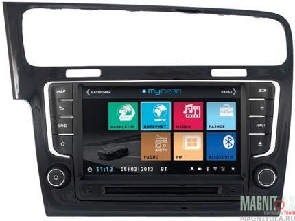 Мультимедийная система для штатной установки, с навигацией для автомобилей VW Golf 7 (Highline) MyDean 3257 Piano Black