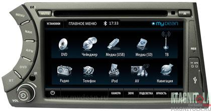 Мультимедийная система для штатной установки, с навигацией для SsangYong Kyron MyDean 7203