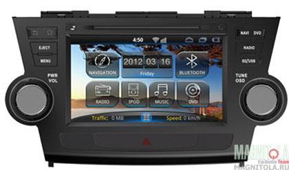 Мультимедийная система для штатной установки, с навигацией для Toyota Highlander INCAR AHR-2188 HL