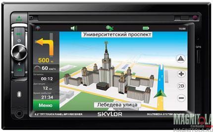 2DIN мультимедийный центр с навигацией и поддержкой Bluetooth SKYLOR AVH-6965