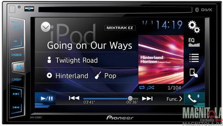 2DIN мультимедийный центр с поддержкой Bluetooth Pioneer AVH-X390BT