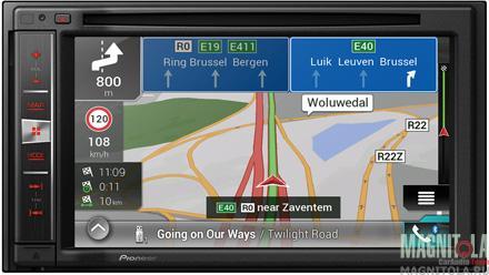 2DIN мультимедийный центр с навигацией и поддержкой Bluetooth Pioneer AVIC-F980BT