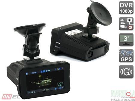 Автомобильный видеорегистратор/радар-детектор AVEL AVS0535DVR