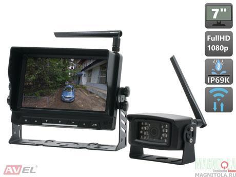 Беспроводной комплект (камера+монитор) для грузового транспорта AVEL AVS111CPR