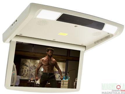 Потолочный монитор с DVD-проигрывателем AVIS AVS1250T бежевый