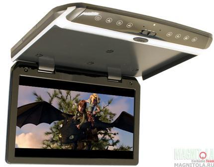 Потолочный монитор со встроенным FULL HD медиаплеером AVIS AVS1550MPP (серый)