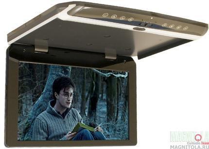 Потолочный монитор со встроенным FULL HD медиаплеером AVIS AVS1750MPP (серый)