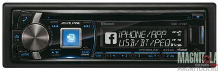 CD/MP3-ресивер с USB и поддержкой Bluetooth Alpine CDE-177BT