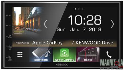 2DIN мультимедийный бездисковый ресивер с поддержкой Bluetooth Kenwood DMX-7018BTS