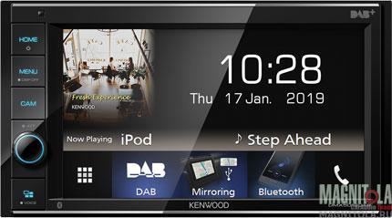 2DIN мультимедийный бездисковый ресивер с поддержкой Bluetooth Kenwood DMX-5019DAB