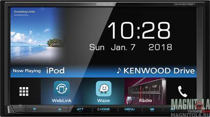 2DIN мультимедийный бездисковый ресивер с поддержкой Bluetooth Kenwood DMX6018BT