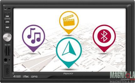2DIN мультимедийный бездисковый ресивер с навигацией и поддержкой Bluetooth Prology DNU-2650