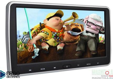 Навесной монитор на подголовник со встроенным DVD-плеером Ergo Electronics ER10VS