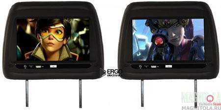 Комплект подголовников со встроенным монитором Ergo Electronics ER10AND