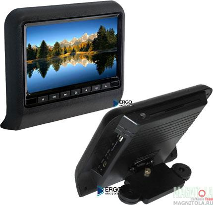 Навесной монитор на подголовник со встроенным DVD-плеером Ergo Electronics ER9L black