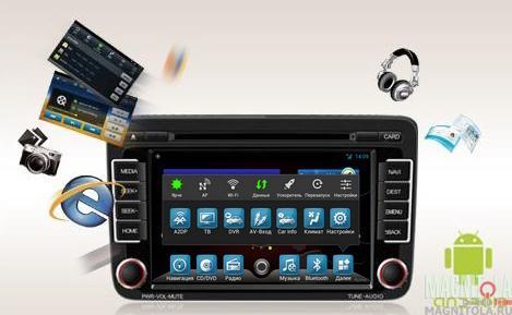 Мультимедийная система для штатной установки, с навигацией для Volkswagen Flyaudio G7007F09
