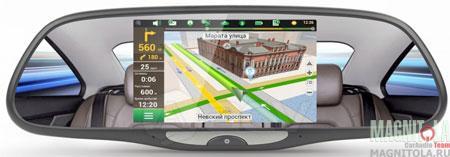 Зеркало заднего вида со встроенным монитором, GPS-навигатором, видеорегистратором и поддержкой Bluetooth ACV GQ 50AD