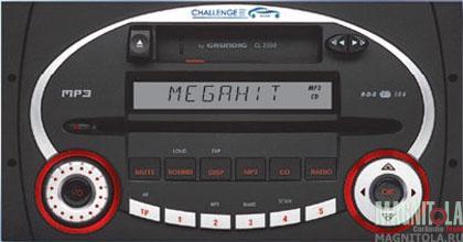 2 DIN CD/MP3/кассетный ресивер GRUNDIG CL2300
