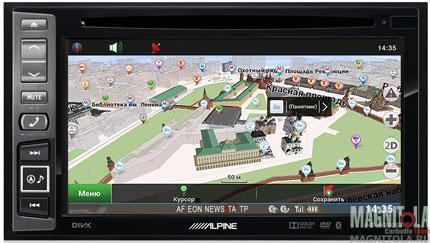2DIN мультимедийный центр с навигацией и поддержкой Bluetooth Alpine INE-W990BT Navitel