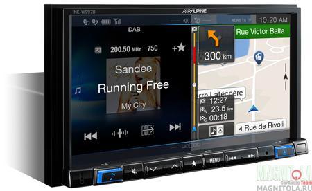2DIN мультимедийный центр с навигацией и поддержкой Bluetooth Alpine INE-W997D