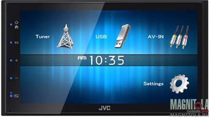 2DIN мультимедийный бездисковый ресивер JVC KW-M14