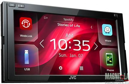 2DIN мультимедийный бездисковый ресивер с поддержкой Bluetooth JVC KW-M540BT