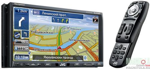 2DIN мультимедийный центр с навигацией JVC Exad KW-NX7000