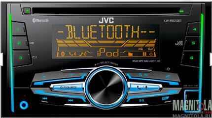 2DIN CD/MP3-ресивер с USB и поддержкой Bluetooth JVC KW-R920BTE