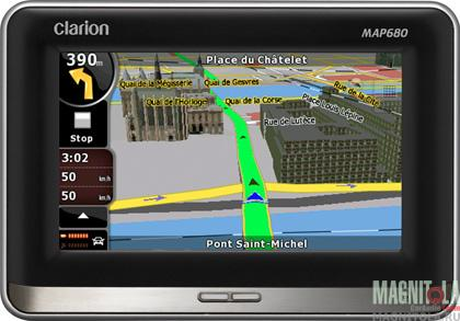 GPS-навигатор Clarion MAP680