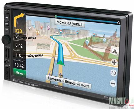 2DIN мультимедийный бездисковый центр с навигацией и поддержкой Bluetooth Prology MPN-450