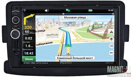 Мультимедийная система для штатной установки, с навигацией для Nissan Terrano Prology NTE-520N