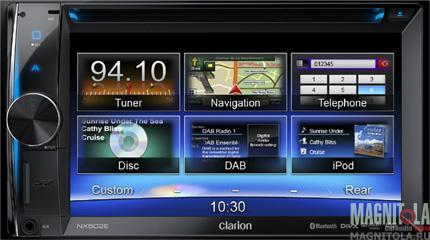 2DIN мультимедийный центр с навигацией и поддержкой Bluetooth Clarion NX502E