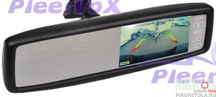 Зеркало заднего вида со встроенным монитором Pleervox PLV-MIR-43ST