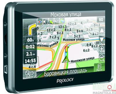 GPS-навигатор со встроенным видеорегистратором и поддержкой Bluetooth Prology iMap-580TR