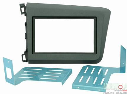 Переходная рамка 2DIN для автомобилей Honda Civic 2012+ (крепеж) INTRO RHO-N14
