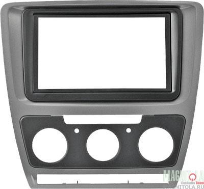 Переходная рамка 2DIN для автомобилей Skoda Octavia (Manual AC) INCAR RSC-N07