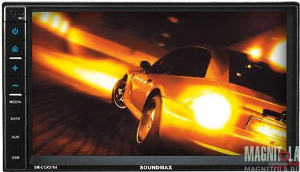 2DIN мультимедийный бездисковый ресивер Soundmax SM-CCR3704