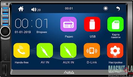 2DIN мультимедийный бездисковый ресивер AURA AMV-7100