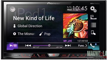 2DIN мультимедийный центр с поддержкой Bluetooth Pioneer AVH-X8600BT