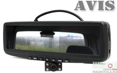Зеркало заднего вида со встроенным монитором и видеорегистратором AVIS AVS0456DVR