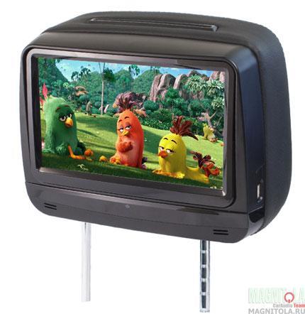 Монитор с DVD-проигрывателем, встроенный в подголовник AVIS AVS0945T (черный)
