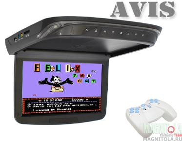 Потолочный монитор с DVD-проигрывателем AVIS AVS1029T black