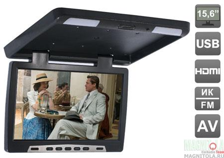 Потолочный монитор со встроенным медиаплеером AVIS AVS115 black